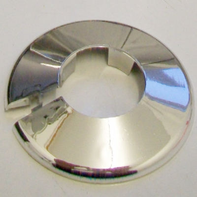 Chrome Plastic 28mm Pipe Wall Flange Collar - 30000392